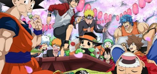 Goku, Naruto, Luffy, Toriko, Tsuna, Reborn, Ichigo, Gintoki